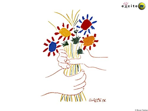 Hand Made Oil Reproduction - Pablo Picasso - 24 x 18 inches - flower bouquet