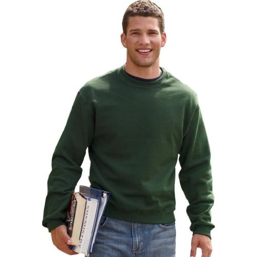 Adult Fruit of the Loom Cotton-Rich Crewneck Sweatshirt in Athletic Heather - X-Large