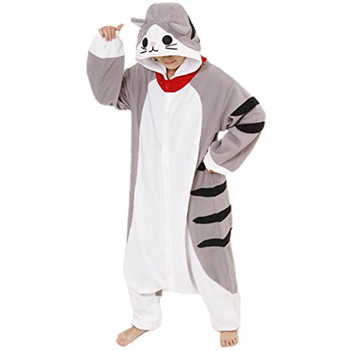 DAYAN Pajamas Anime Costume Adult Animal Onesie Cheese Cat Cosplay