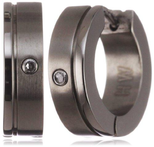 Pure Grey 11008-OCR ER Unisex Titanium Creole Earrings