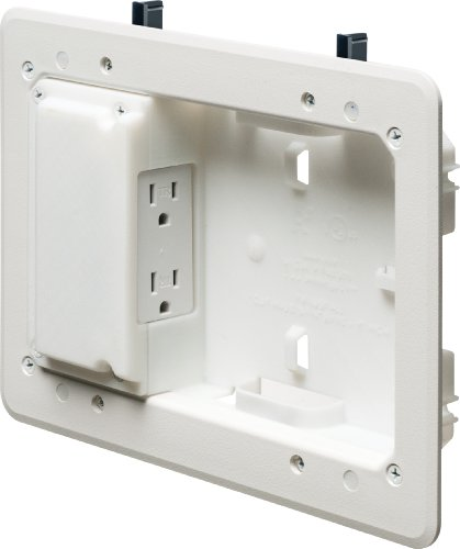 Arlington TVL508-1 Low Profile TV Box for Shallow Walls, 8-inch x 5-inch Box, 1/2-inch or 5/8-Inch Drywall, 1-Pack (Low Profile Wall Box compare prices)