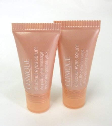 CLINIQUE ALL ABOUT EYES DE-PUFFING SERUM ROLL ON 10ml (2 X 5ML)