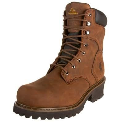 "Chippewa Men's 55025 8"" Steel Logger Boot,Bark Logger,6 M US"