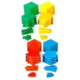ETA hand2mind Green ManipuLite Base Ten Blocks Class Set