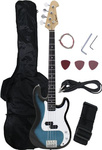 Crescent Electric Bass Guitar Blueburst Starter Kit