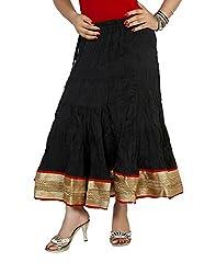 Sringar Women's Skirt (As2042_Black_30)