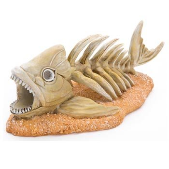 Penn Plax Zombie Fish Aquarium Ornament, 7.2 by 3.5 by 3-Inch