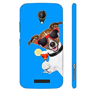 Micromax Canvas Spark Q380 DOG SAYS CHEERS designer mobile hard shell case by Enthopia