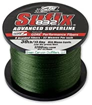Sufix 832 Braid Line-1200 Yards (Green, 80-Pound)