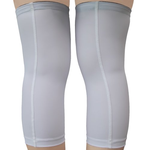knee sleeves  1 pair  white - s  compression
