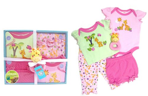 Fisher-Price Precious Planet 5 Piece Layette Set, Pink front-111065