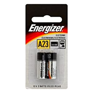 Energizer A23 Battery, 12 Volt - 2 Pack