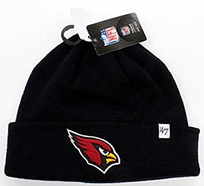 47 Brand Arizona Cardinals Black Basic Raised Cuffed Sport Field Winter Stocking Beanie NFL