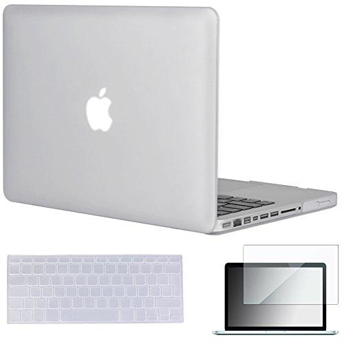 Topideal 3-in-1portacomputer cellulare, pellicola per tastiera e protezione per MacBook Pro da 13(senza Retina Display, modello A1278), Silk, morbido