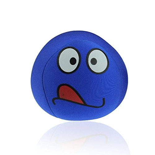 Ukamshop niedlich emoji smiley Kissen Weichen Cartoon Kissen Spielzeug 10 * 10cm (blau)