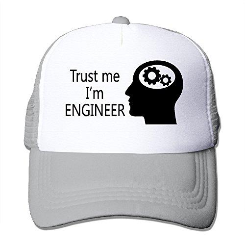 Adjustable Hats Trust Me I'm Engineer Peak Mesh Caps Ash (Printing Machinery Parts compare prices)