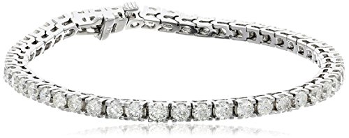 IGI-Certified-14k-White-Gold-4-Prong-Diamond-Tennis-Bracelet-5cttw-H-I-Color-I1-Clarity-7