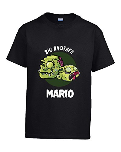 Halloween Costume Mario Big Brother Funny Boys Personalized Gift - Kids T Shirt