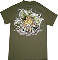 Dragon Ball Z: Group Attack Green Shirt.