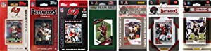 NFL Tampa Bay Buccaneers 7 Different Licensed Trading Card Team Sets by C&I Collectables