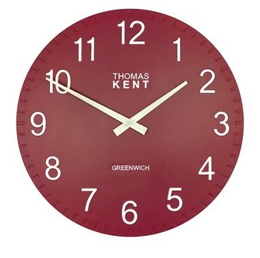 Thomas Kent Cotswold Wall Clock - 50cm Raspberry 20019