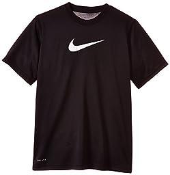 Boy\'s Nike Legend Dry Training T-Shirt Black/White Size Large