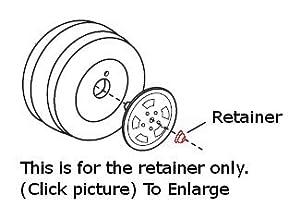 Power Wheels 0801-0227 .437 Cap Nut, White