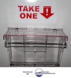 Clear LID Outdoor Business Card Holder - Our Most Popular! From: Clear Lake Enterprises, Inc.