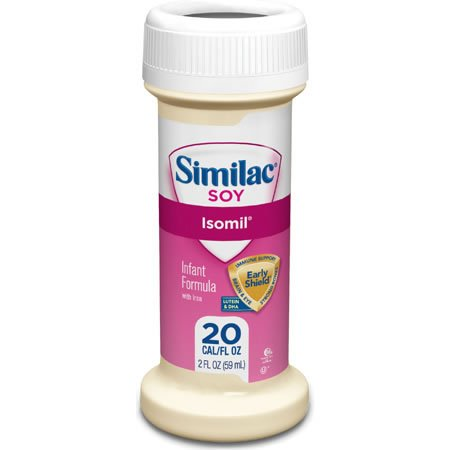 Similac Isomil Soy, for Fussiness and Gas Formula 2 Fl Oz Ready to Feed 48 Bottles - 1