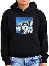 Siberian Husky in the snow Women Hoodie