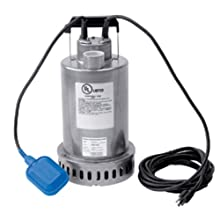 Honda WSP73 Submersible Pump, Top Discharge, 3/4 hp 115V