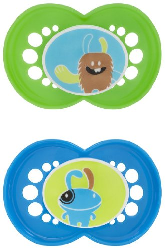 Mam Bpa Free Character Silicone Pacifier - Blue/Green - 6+ Months front-788807