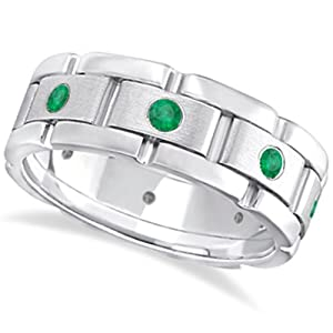 Men's Wide Band Eternity Ring
