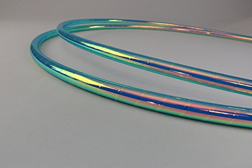 "Color Changing Polypro Hula Hoop for Dance and Fitness (Brilliant Mermaid, 30"" x 5/8"" OD (Advanced & Kids))"