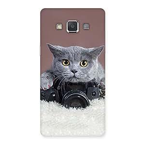 Impressive Kitty Photographer Multicolor Back Case Cover for Galaxy Grand 3