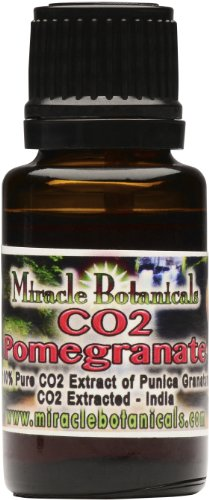 Miracle Botanicals Pomegranate Seed Oil (CO2 Extract) - 100% Pure High Quality Medicinal Grade Co2 Punica Granatum 15ml (1/2 oz)