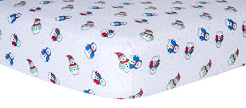 Trend Lab Crib Sheet, Snowman
