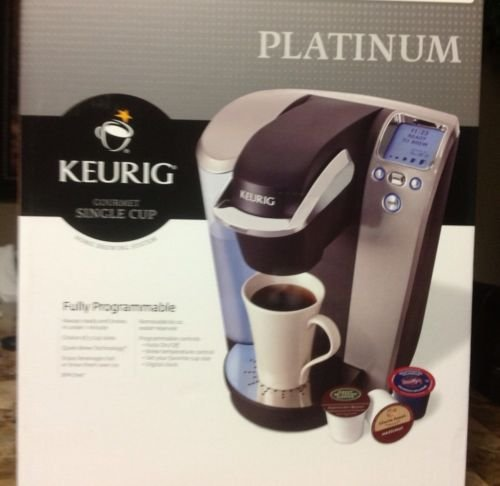 Brand New Keurig Single Serve K Cup Coffee Maker Machine Platinum with 60 K-cup FREE!