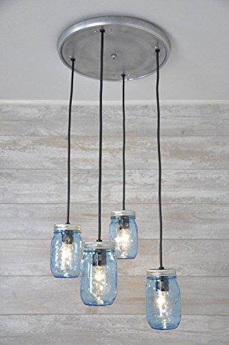 Mason Jar Chandelier Pendant Light Perfect Ball Fixture (Ball Jar Pendant compare prices)