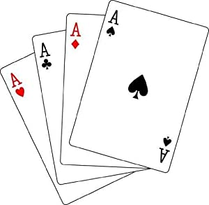 Amazon.com - Four Aces Poker Playing Cards Wall Decal - 18 Inches W x
