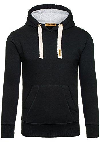 BOLF Sweatshirt Hoodie Kapuze RONIDA 4837 Schwarz M [1A1]