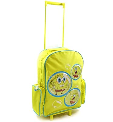 Spongebob Squarepants - Childs Boys Wheeled Bag Trolley Suitcase Travel Cabin Bag by ACHARACTERSHOP