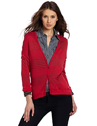 Splendid Women's Button Cocoon Cardigan, Scarlett, Medium