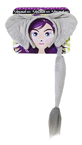 Forum Novelties Women's Playful Animals Elephant Costume Accessory Set, Multi, One size