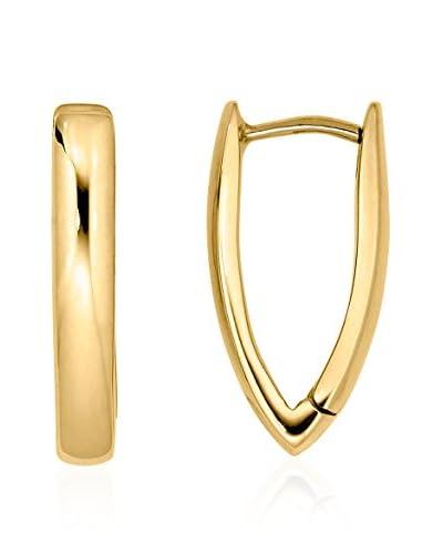 steel art Pendientes Navette Metal Dorado