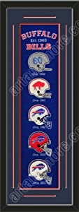Heritage Banner Of Buffalo Bills With Team Color Double Matting-Framed Awesome &... by Art and More, Davenport, IA