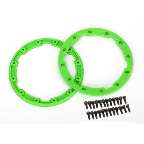 Traxxas 5664 Sidewall Protector, Bead lock (Green) for Geode Wheels