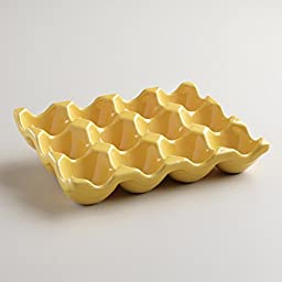 Ceramic Egg Crate 12-cup, Yellow