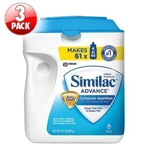Baby / Child Similac Advance Powder Nutrient Blend In Early Shield For Immune Support 3-Pk 34 Oz. Ea 102 Oz Total Infant
