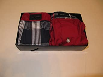Tommy Hifiger 2 Woven Boxers Size Small (28-30) Red & Plaid